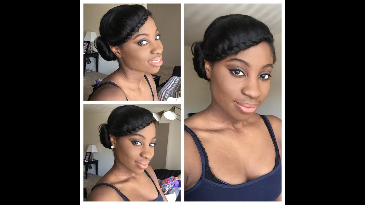 Simple Protective Style Relaxed Hair YouTube