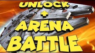 Millennium Falcon Unlock + Arena Battle  star wars galaxy of heroes swgoh