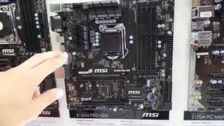 MSI B150M PRO-VDH LGA1151 Intel Skylake alaplap bemutató videó