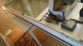 Как я перевесил балконную пластик   дверь