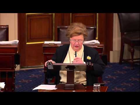 Mikulski Speaks on Senate Floor Honoring Senate Men Retiring After 112th Congress