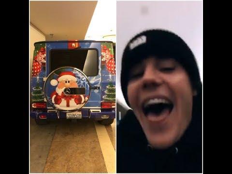 Justin Bieber - 'Christmas Spirit G-Wagon' - Instagram Stories - December 16, 2017
