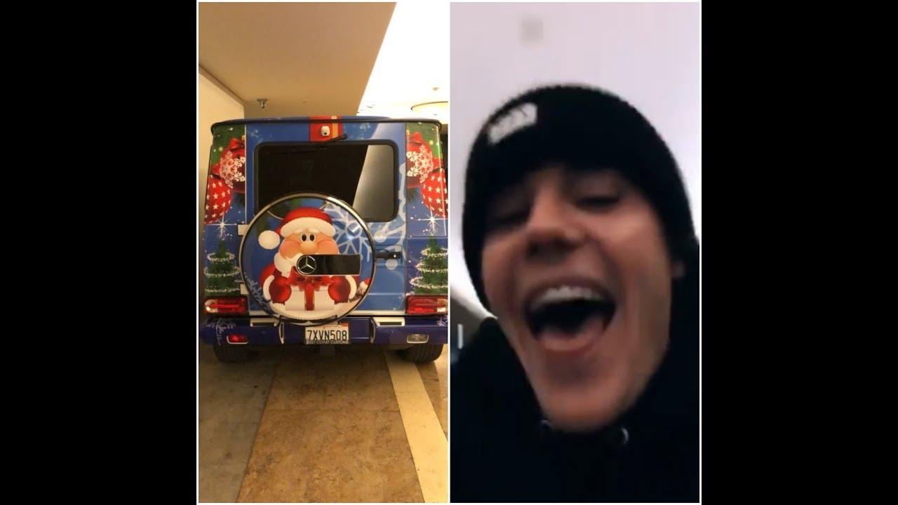 Justin Bieber - \'Christmas Spirit G-Wagon\' - Instagram Stories ...