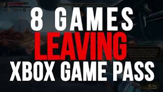 8 Games Leaving Xbox Game Pass At The End Of The Month  Nov