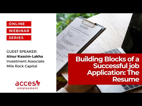 Building Blocks of a Successful Job Application: The Resume