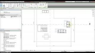 Laying out a building in Revit.