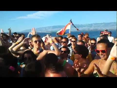 Party boat Pag Zrce 19.7.2012 with Nicky Romero 1