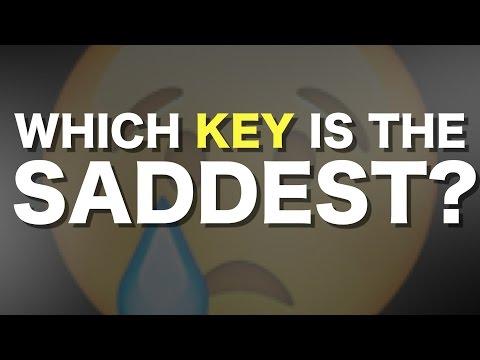 Which key is the saddest?