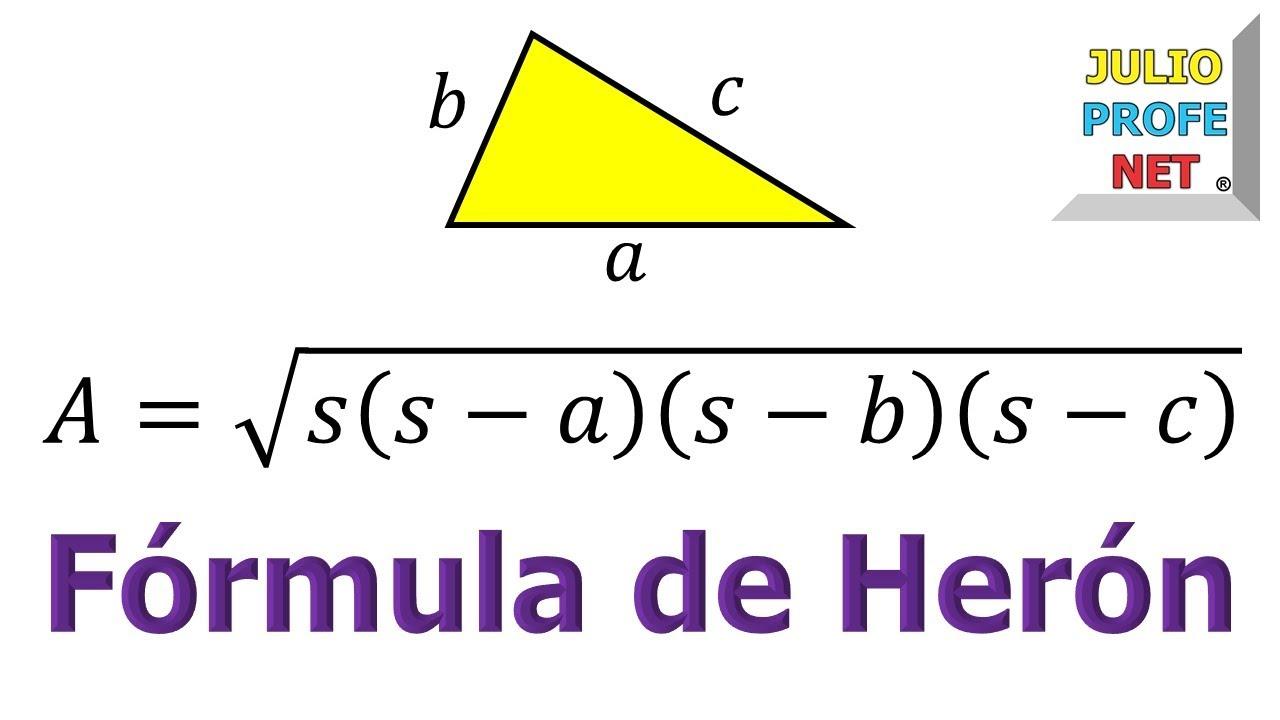3a7ab2d454 FÓRMULA DE HERÓN - Demostración - YouTube