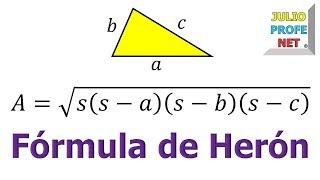 FÓRMULA DE HERÓN  Demostración