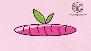 Pink Carrot Logo Design Tutorial | How to make a logo in adobe illustrator cs6 for beginners