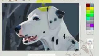 Dog painting in Risovaska