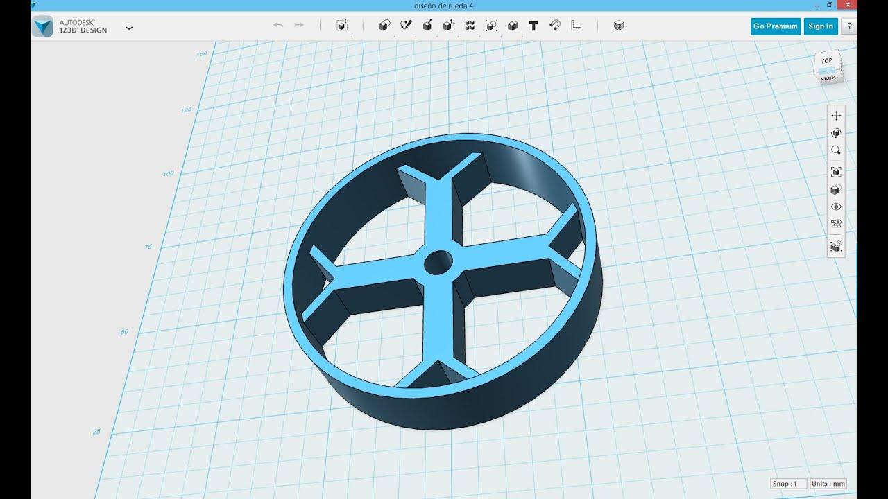 Dibujo en 3d usando 123d design de autocad en espa ol 123d cad