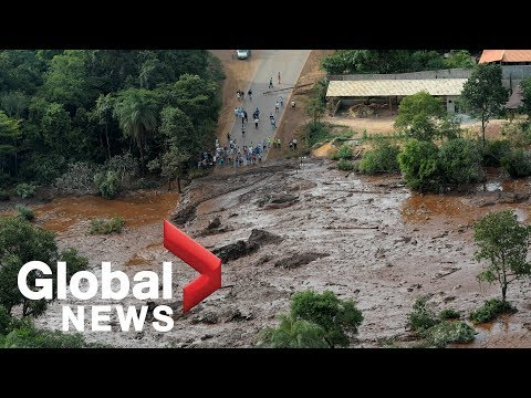 Aerial footage shows extensive damage from dam burst in Brazil Mp3