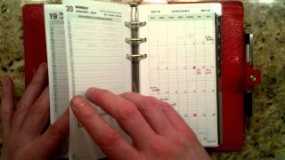 Filofax week-on-two-pages with Daytimer two-pages-per-day