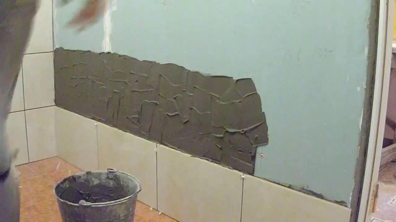Плитку на гипсокартон в ванной своими руками фото 42