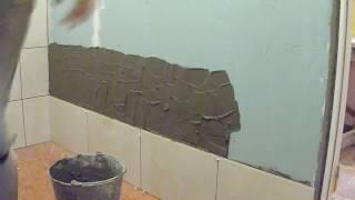 видео Как класть плитку на гипсокартон