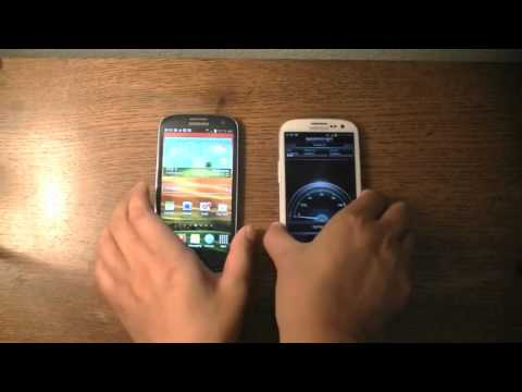 Samsung Galaxy S III 4G HSPA+ Speedtest: AT&T v. T-Mobile