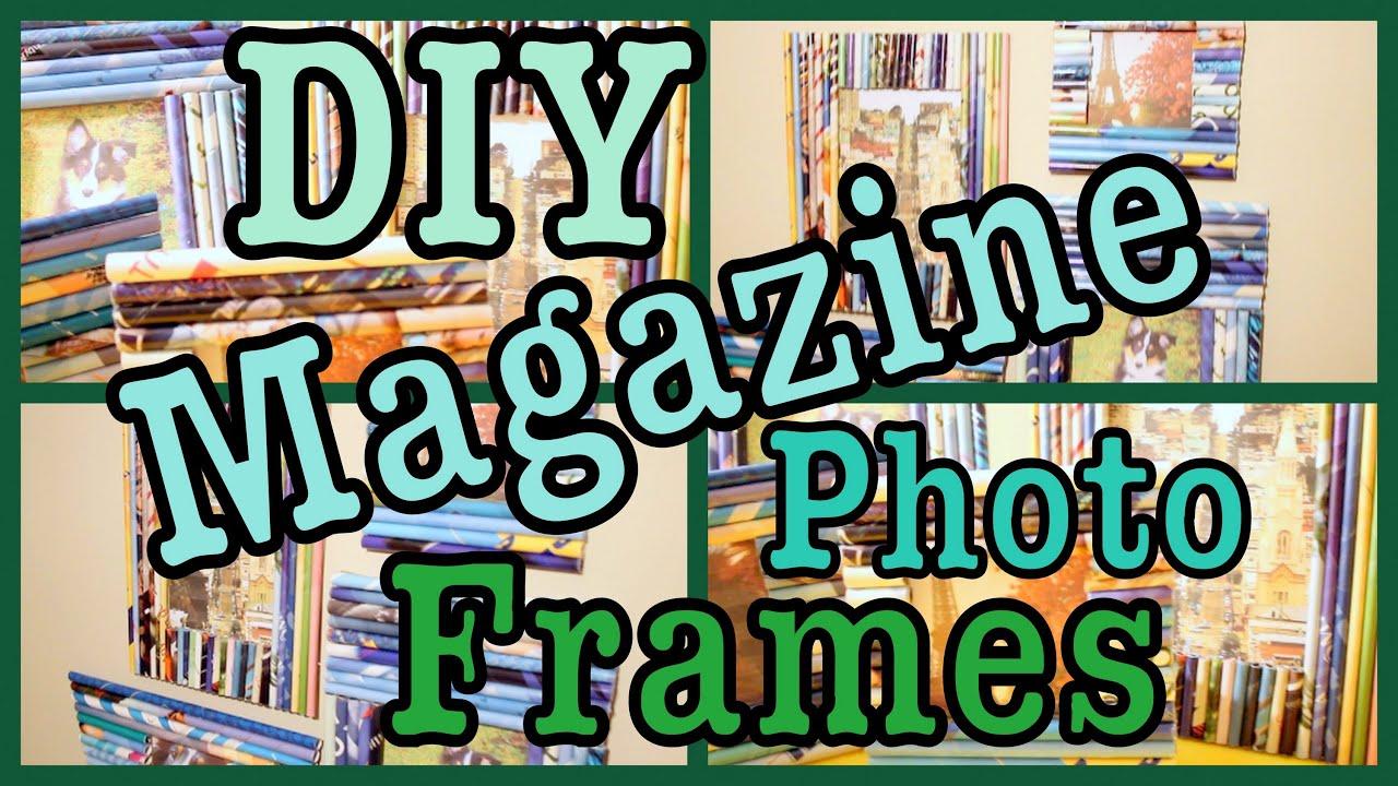 Diy magazine photo frames roomspiration youtube jeuxipadfo Image collections