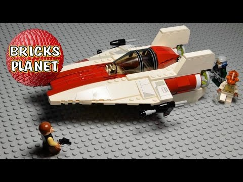 A-wing Starfighter LEGO Star Wars 75003 set - Review, Stop motion, Time-Lapse build