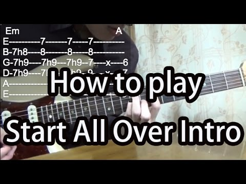 How To Play Start All Over Intro-Kula Shaker Guitar Tutorial With Tabs