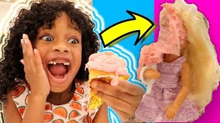 Glitter Pink Cupcakes ! Barbie Wedding Crafts DIY Amazing Recipe