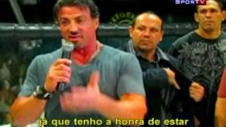 Sylvester Stallone e Rodrigo Nogueira Minotauro