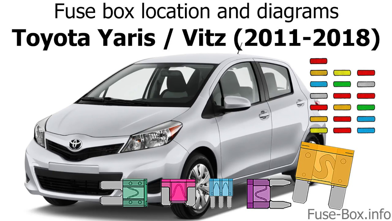 fuse box location and diagrams toyota yaris echo vitz 2011