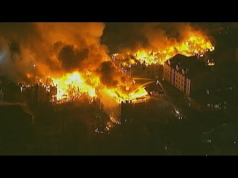 New Jersey Apartment Fire Consumes Building