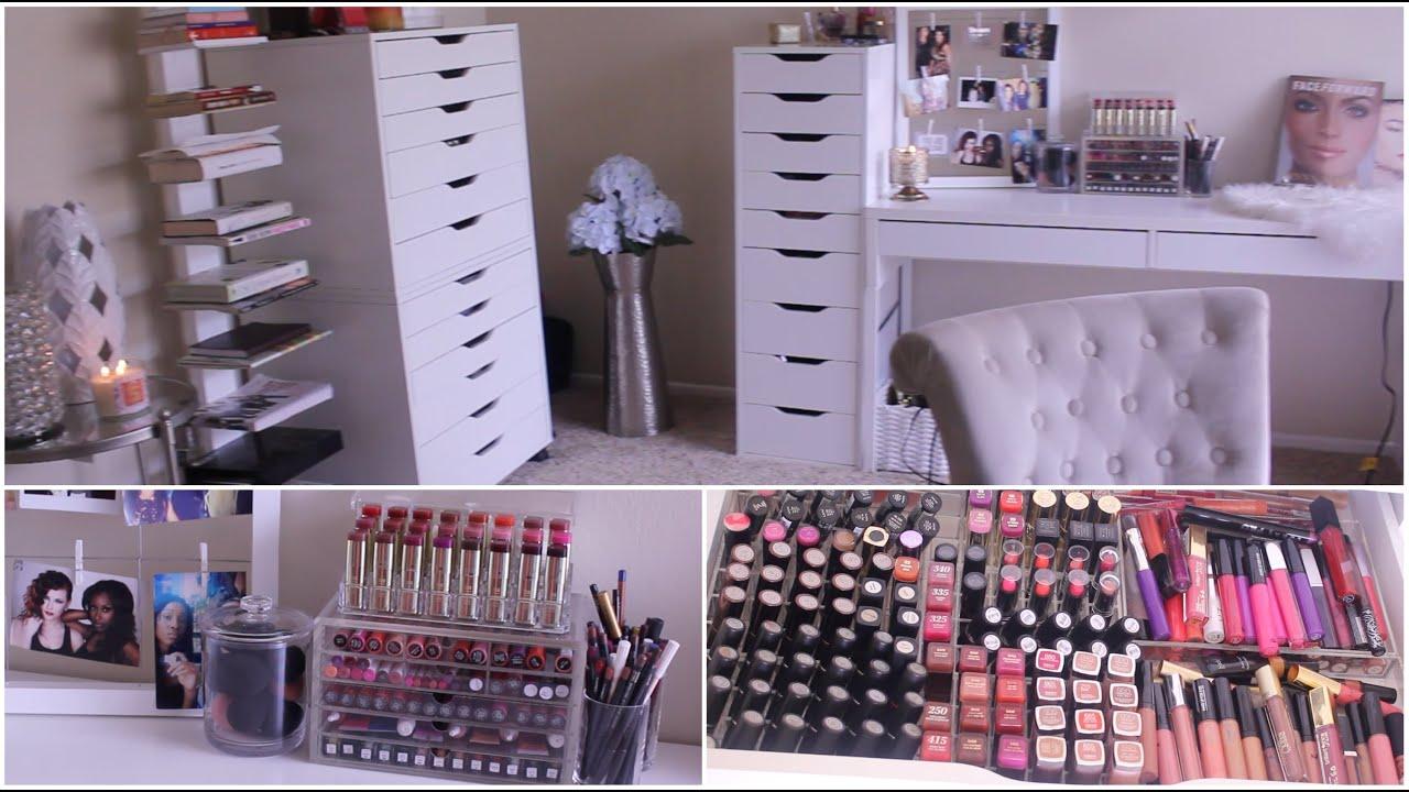 Makeup Collection Storage 2017 Jackie Aina You  sc 1 st  Makewalls.co & jaclyn hill makeup storage | Makewalls.co