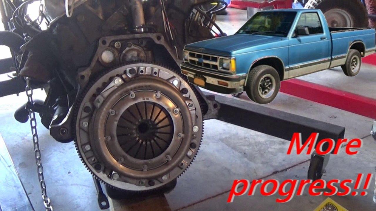 medium resolution of s10 clutch flywheel install