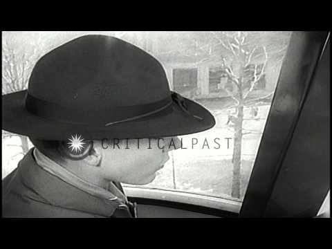 Aerial views of the 1964 World's Fair as seen by boy scouts riding the monorail i...HD Stock Footage