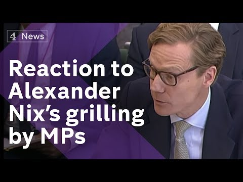 Reaction as former Cambridge Analytica CEO is grilled by MPs