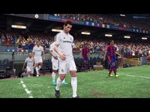 | PES 2018 Gameplay | BARCELONA LEGENDS VS REAL MADRID LEGENDS HD PS4 | Level Legend |