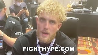 JAKE PAUL MESSAGE TO NATE ROBINSON RIGHT AFTER KNOCKOUT WHILE WATCHING MIKE TYSON VS. ROY JONES JR.