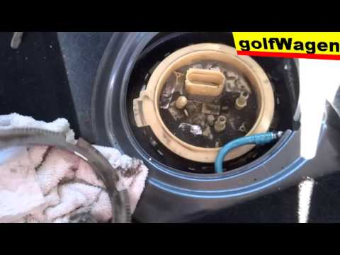 vw golf 5, how to replace fuel pump full time /fuel level sensor err/