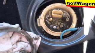 vw golf 5 how to replace fuel pump full time fuel level sensor err