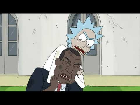 Барак Обама ( Президент ) VS Учёный Рик. \ Рик и Морти Rick And Morty
