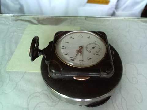 十點九分鐘錶Pocket Watch西元1900年日本昭和33年二問槍殼金屬宮廷向瑞士訂製懷錶維修44 詹師傅+886933594731