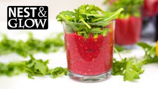 Beetroot and Bean Protein Pots [No Music] Vegan & Healthy Recipe