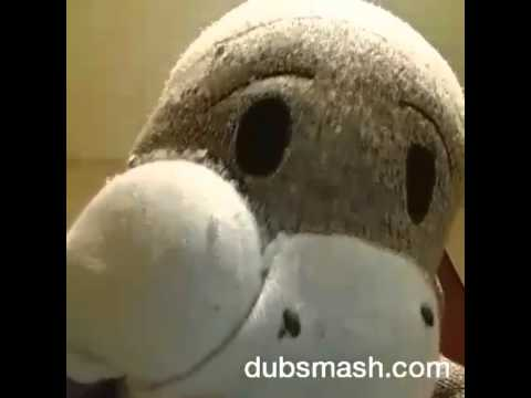 Giant sock monkey as Ted- Law and Order parody