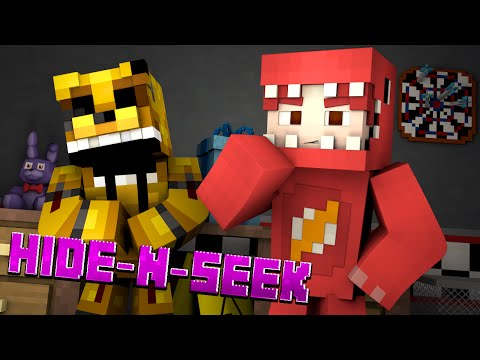 Minecraft FNAF HIDE N SEEK w/ GOLDEN FREDDY! #7 (Five Nights at Freddy's Minigame)