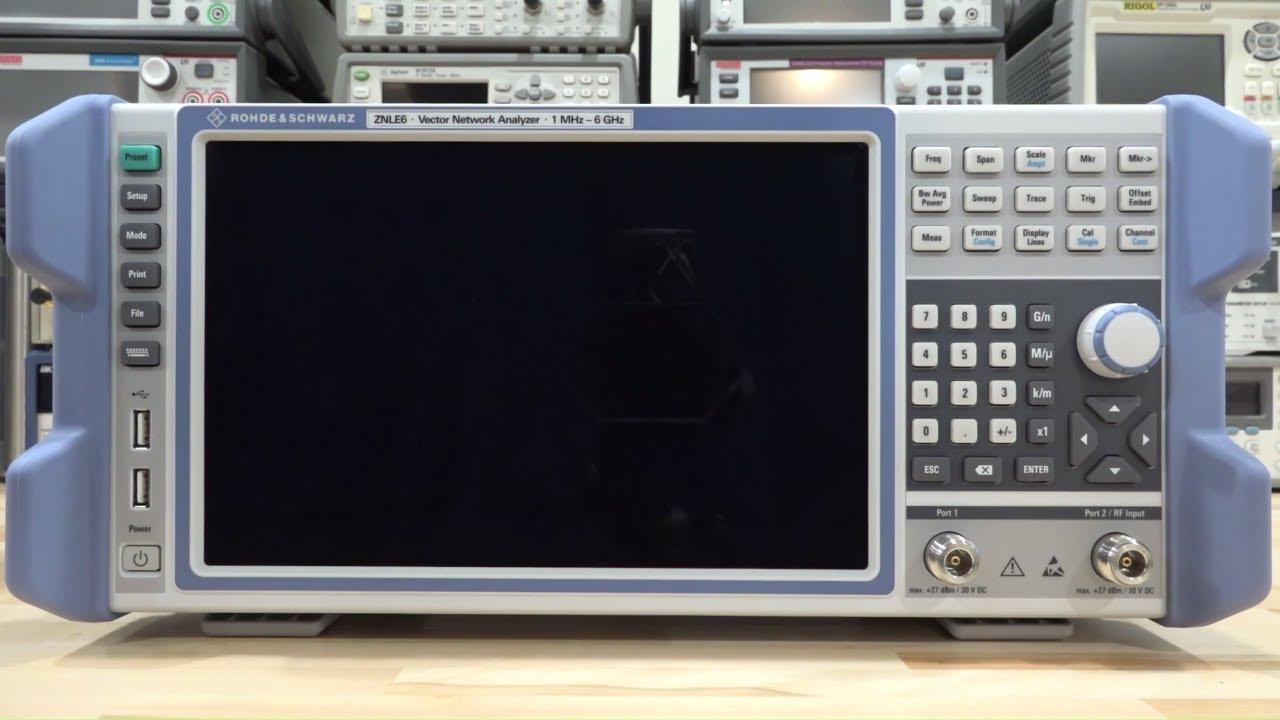Network Analyzer Tsp 120 Rohde Schwarz Znle 1mhz 6ghz Vector Network Analyzer Review Teardown Experiments