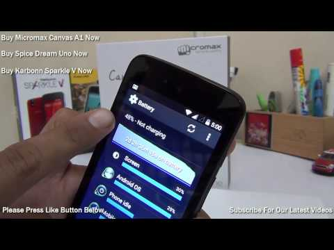 Google Android One Battery Performance With Looping Video Playback On Micromax Canvas A1