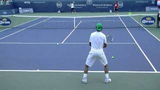 Rafael Nadal Backhand Drill in HD Back View