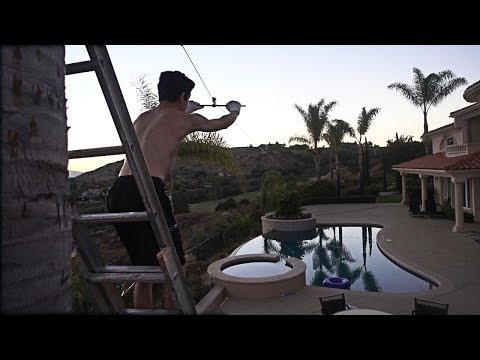OUR CRAZY NEW ADDITION TO THE HOUSE!! (150 FT ZIPLINE INTO POOL)