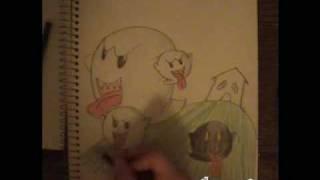 How to Draw Boo (Super Mario Galaxy)