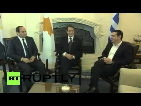 Cyprus: Sisi and Tsipras join President Anastasiadis for trilateral talks