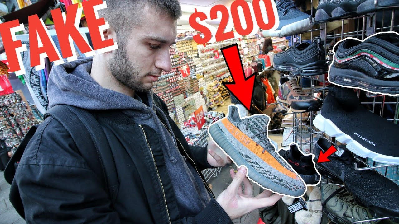 BUYING FAKE YEEZYs, SUPREME and BAPE in LONDON! THEY tried