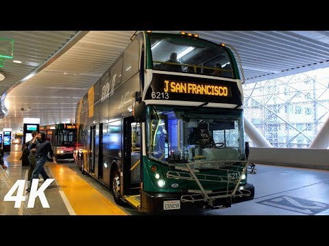 ⁴ᴷ⁶⁰ AC Transit: Line J (Double-Decker): Sacramento St & University Ave - Salesforce Transit Center